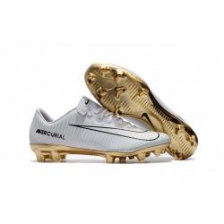 Nike Botas de Fútbol de Hombre Mercurial Vapor XI CR7 Vitórias FG -Blanco Oro
