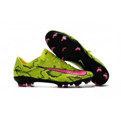 Nike Mercurial Vapor 11 FG Nuevas Zapatillas Botas -Amarillo Rosa