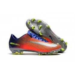 Zapatos de Futbol Nike Mercurial Vapor XI FG -Naranja Azul Plata