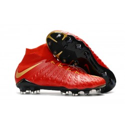 Nike Hypervenom Phantom 3 DF Fg - Zapatillas de fútbol Hombre - Rojo Oro
