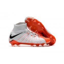 Nike Hypervenom Phantom 3 Dynamic Fit FG ACC Zapatos - Blanco Naranja