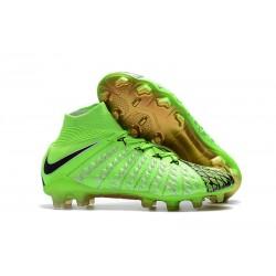 Nike Hypervenom Phantom III DF FG Botas de Fútbol - Verde Negro
