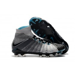 Nike Zapatillas de Fútbol para Hombre Hypervenom Phantom III FG - Negro Gris