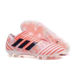 Botas Adidas Nemeziz Messi 17+ 360 Agility FG - Blanco Naranja