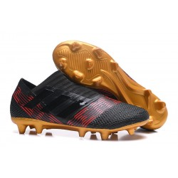 Botas Adidas Nemeziz Messi 17+ 360 Agility FG - Negro Oro