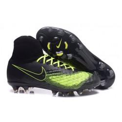 Nike Tacos Para Futbol Magista Obra II FG - Negro Verde