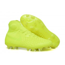 Zapatos Nike Magista Obra Ii Fg Con Acc Fútbol Botas - Amarillo