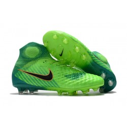 Nike Magista Obra 2 FG Zapatillas de Futbol - Verde Negro