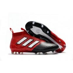 Botines de Futbol adidas Ace 17+ Purecontrol Fg - Rojo Negro