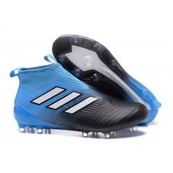 Botines de Futbol adidas Ace 17+ Purecontrol Fg - Negro Azul