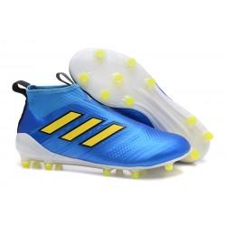 adidas Botas de Futbol Ace 17+ Purecontrol Fg - Azul Naranja