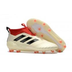 adidas Ace 17+ Purecontrol FG Nuevos Zapatillas de Fútbol - Blanco Rojo Negro