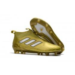adidas Ace 17+ Purecontrol FG Nuevos Zapatillas de Fútbol - Oro Blanco