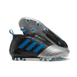 adidas Ace 17+ Purecontrol FG Nuevos Zapatillas de Fútbol - Negro Plata