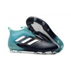 adidas Nuevas Botas de Fútbol Ace 17+ Purecontrol FG ACC - Negro Azul