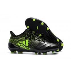 Adidas X 17.1 FG Nuevas Zapatos de Futbol Negro Verde