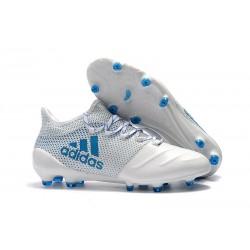 Adidas X 17.1 FG Nuevas Zapatos de Futbol Blanco Azul