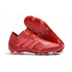 Tacos Adidas de Messi Nemeziz 17.1 FG - Rojo