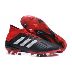 adidas Tacos de Futbol Predator 18.1 Fg - Negro Rojo Blanco