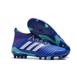 adidas Tacos de Futbol Predator 18.1 Fg - Azul Blanco