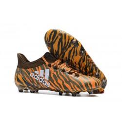 Adidas X 17.1 FG Nuevas Zapatos de Futbol Naranja Marrón