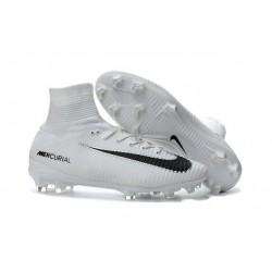 Nike Botas de Fútbol Mercurial Superfly 5 DF FG - Blanco Negro