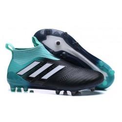 adidas Nuevas Botas de Fútbol Ace 17+ Purecontrol FG ACC - Azul Negro