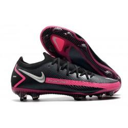 Zapatos Fútbol Nike Phantom GT Elite FG -Negro Plateado Explosión Rosa