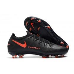 Zapatos de Fútbol Nike Phantom GT Elite FG - Negro Rojo Chile Gris