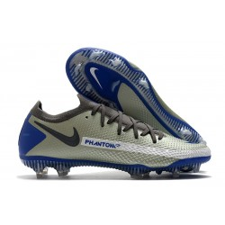 Zapatos de Fútbol Nike Phantom GT Elite FG - Gris Azul Negro
