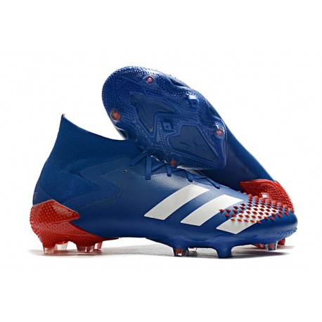 Zapatos de Futbol adidas Predator Mutator 20.1 FG Azul Blanco Rojo
