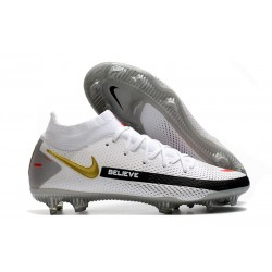 Bota Nike Phantom GT Elite Dynamic Fit DF FG Blanco Negro Rojo Oro