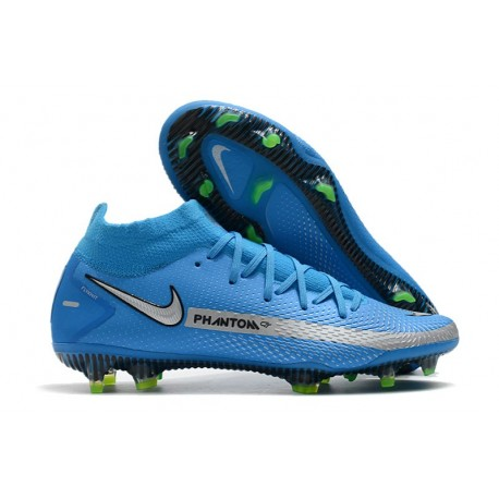 Bota Nike Phantom GT Elite Dynamic Fit DF FG Azul Plata