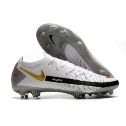 Nike Zapatillas Phantom GT Elite FG Blanco Negro Rojo