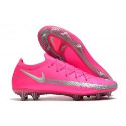 Zapatos de Fútbol Nike Phantom GT Elite FG - Rosa Plata