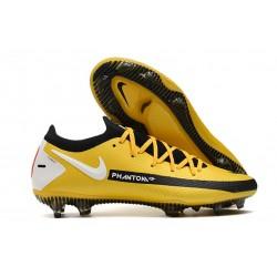 Zapatos de Fútbol Nike Phantom GT Elite FG - Amarillo Negro Blanco