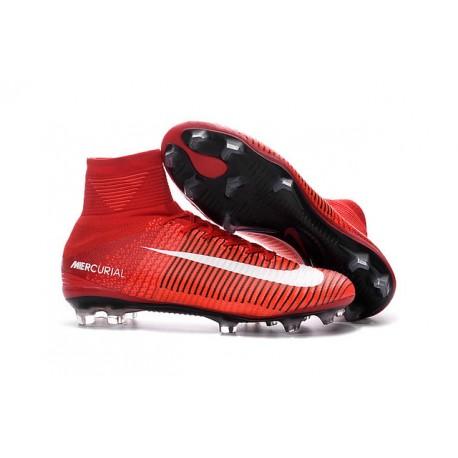 quality design 49ac2 fd998 Botas Fútbol Nike Mercurial Superfly V FG para Hombre Rojo Blanco