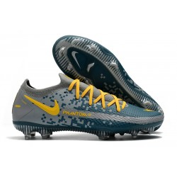 Nike Zapatillas Phantom GT Elite FG Azul Gris Amarillo