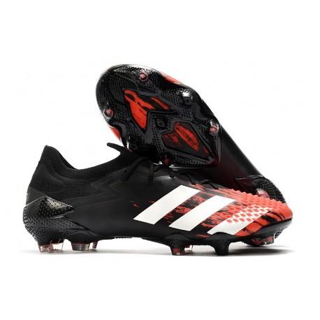 adidas Botas Predator Mutator 20.1 Low FG Negro Blanco Rojo
