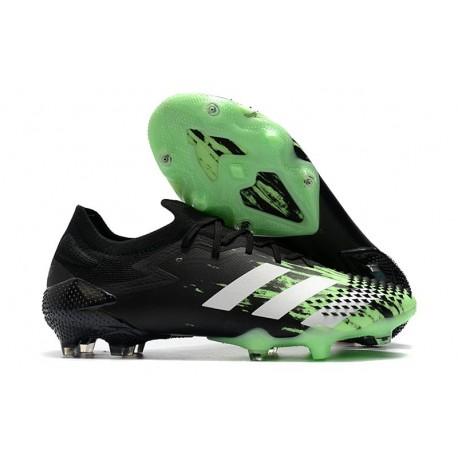 adidas Botas Predator Mutator 20.1 Low FG Negro Blanco Verde