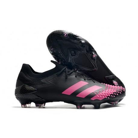 Zapatillas de Fútbol adidas Predator Mutator 20.1 Low FG Negro Rosa