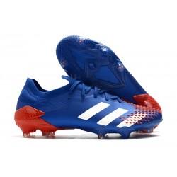 Zapatillas de Fútbol adidas Predator Mutator 20.1 Low FG Azul Blanco Rojo