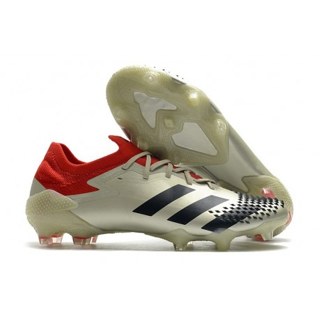 Zapatillas de Fútbol adidas Predator Mutator 20.1 Low FG Beige Negro Rojo