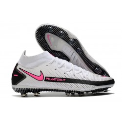 Nike Phantom GT Elite Dynamic Fit AG-PRO Blanco Rosa Negro