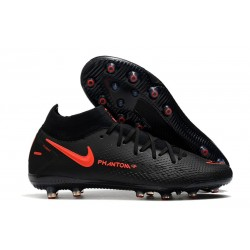 Nike Phantom GT Elite Dynamic Fit AG-PRO Negro Rojo Chile Gris oscuro