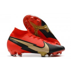 Bota Nike Mercurial Superfly VII Elite DF FG Rojo Negro Oro
