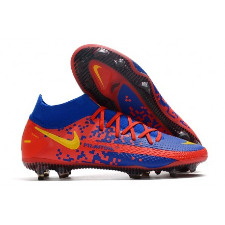 Bota Nike Phantom GT Elite Dynamic Fit DF FG Rojo Azul Amarillo