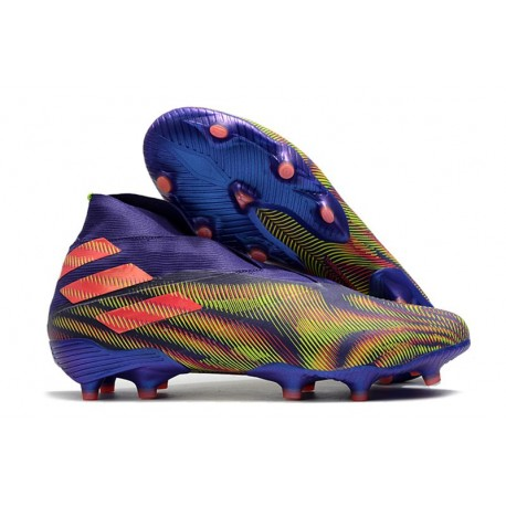 Adidas Botas de Fútbol Nemeziz 19+ FG - Tinta Energia Rosa Senal Verde