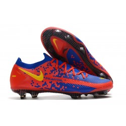 Nike Zapatillas Phantom GT Elite FG Azul Rojo Amarillo