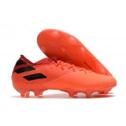 Bota de fútbol adidas Nemeziz 19.1 FG -Signal Coral Negro Rojo Gloria